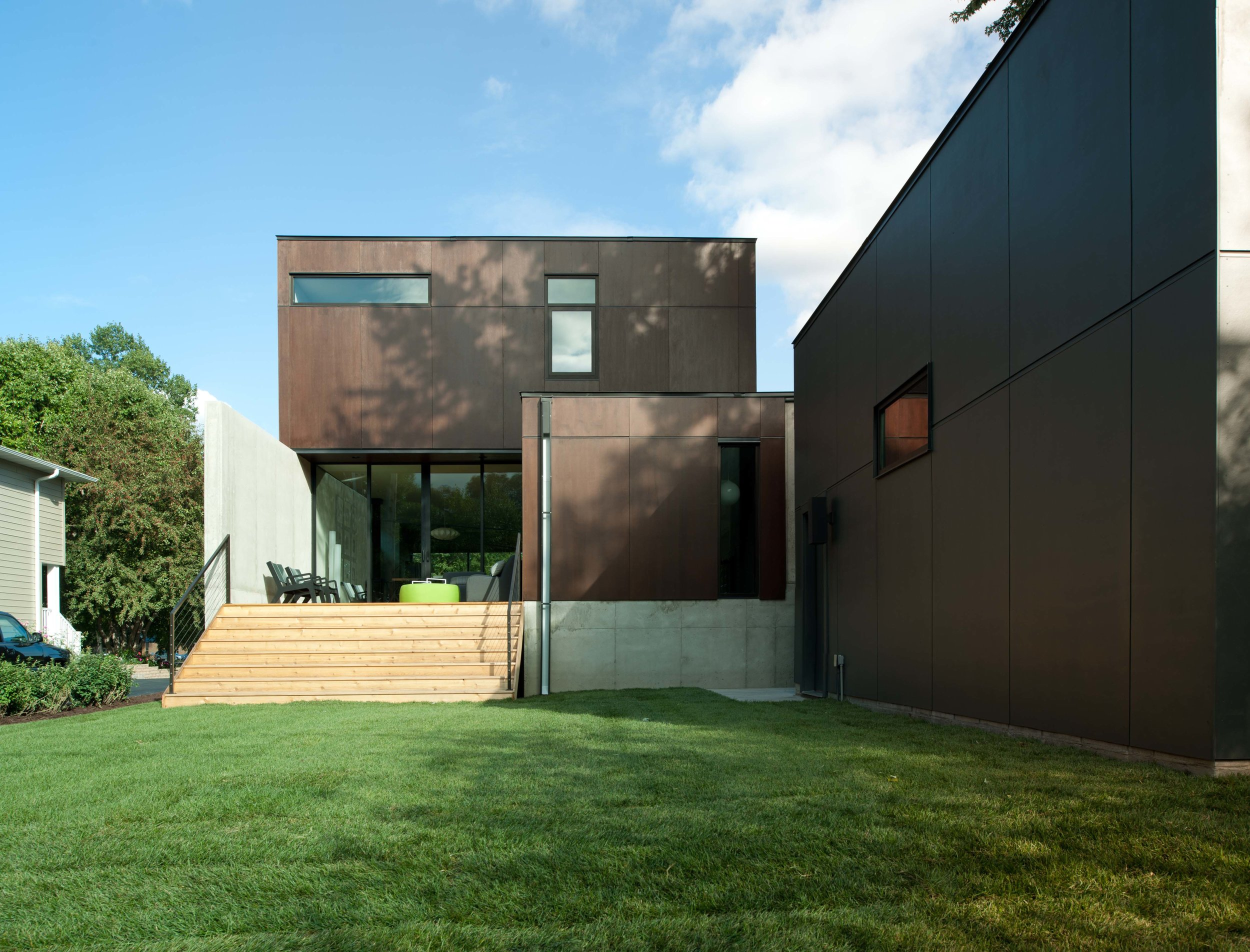 Modern corten steel and concrete home in Minneapolis by Christian Dean Architecture