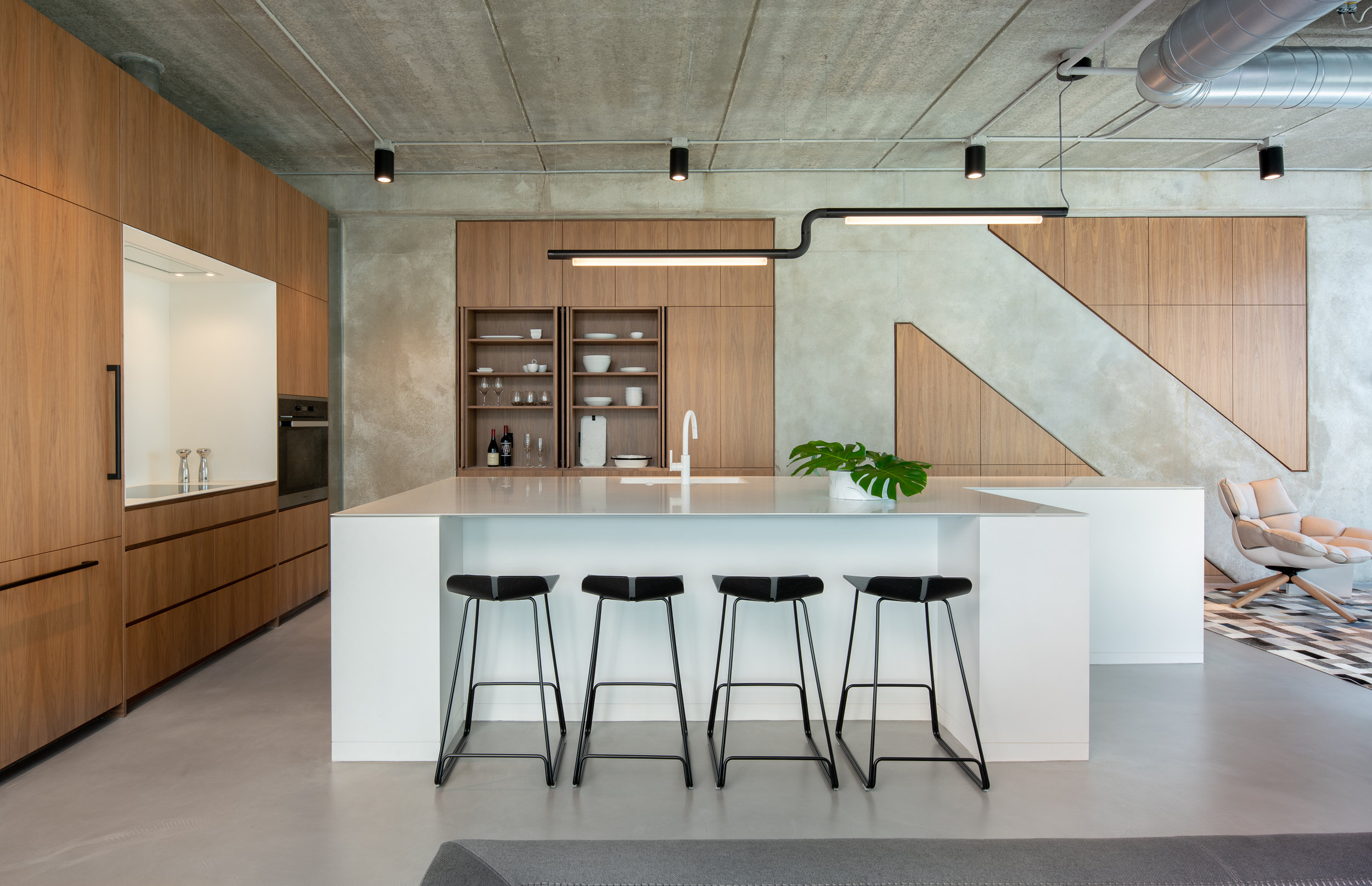 Modern kitchen renovation with custom fitted cabinetry designed by Christian Dean Architecture