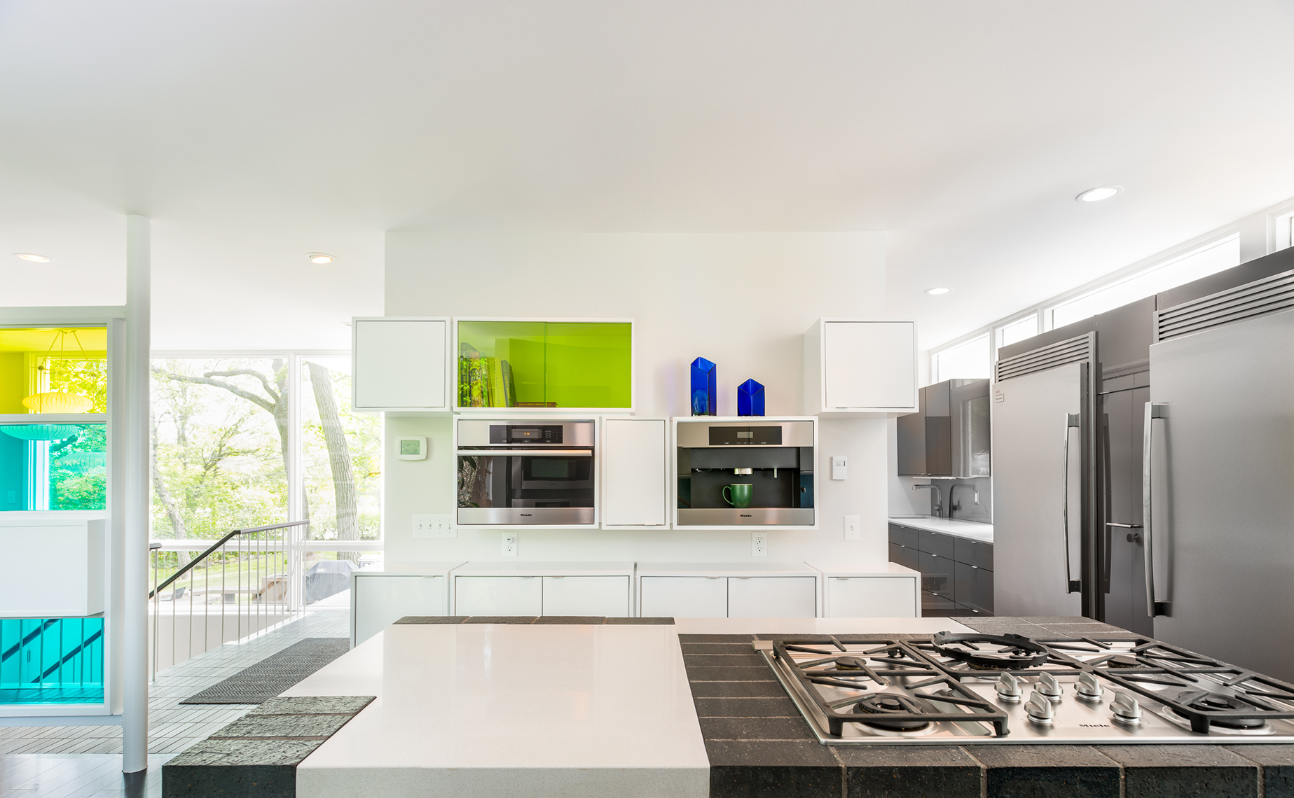 Modern kitchen renovation of a Ralph Rapson midcentury home