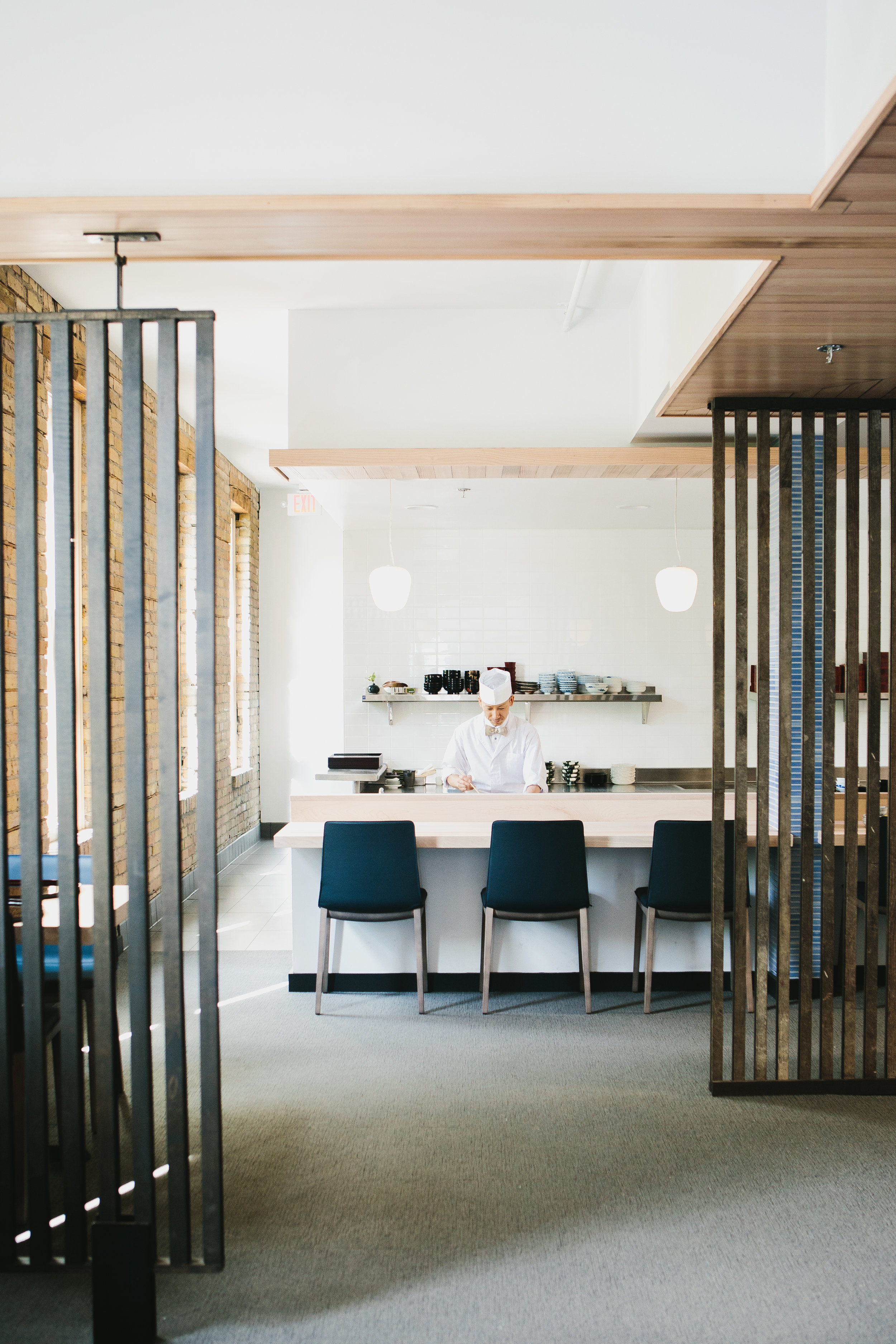 historic building modern remodel japanese restaurant in minneapolis by christian dean architecture