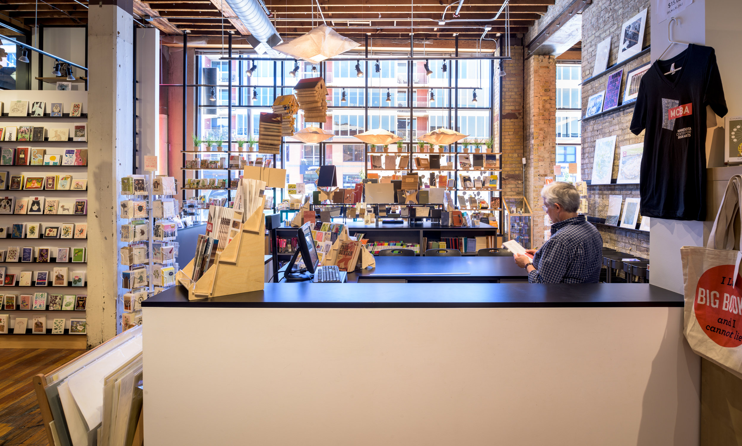 Modern gift shop in remodeled historic building in downtown Minneapolis by Christian Dean Architecture.