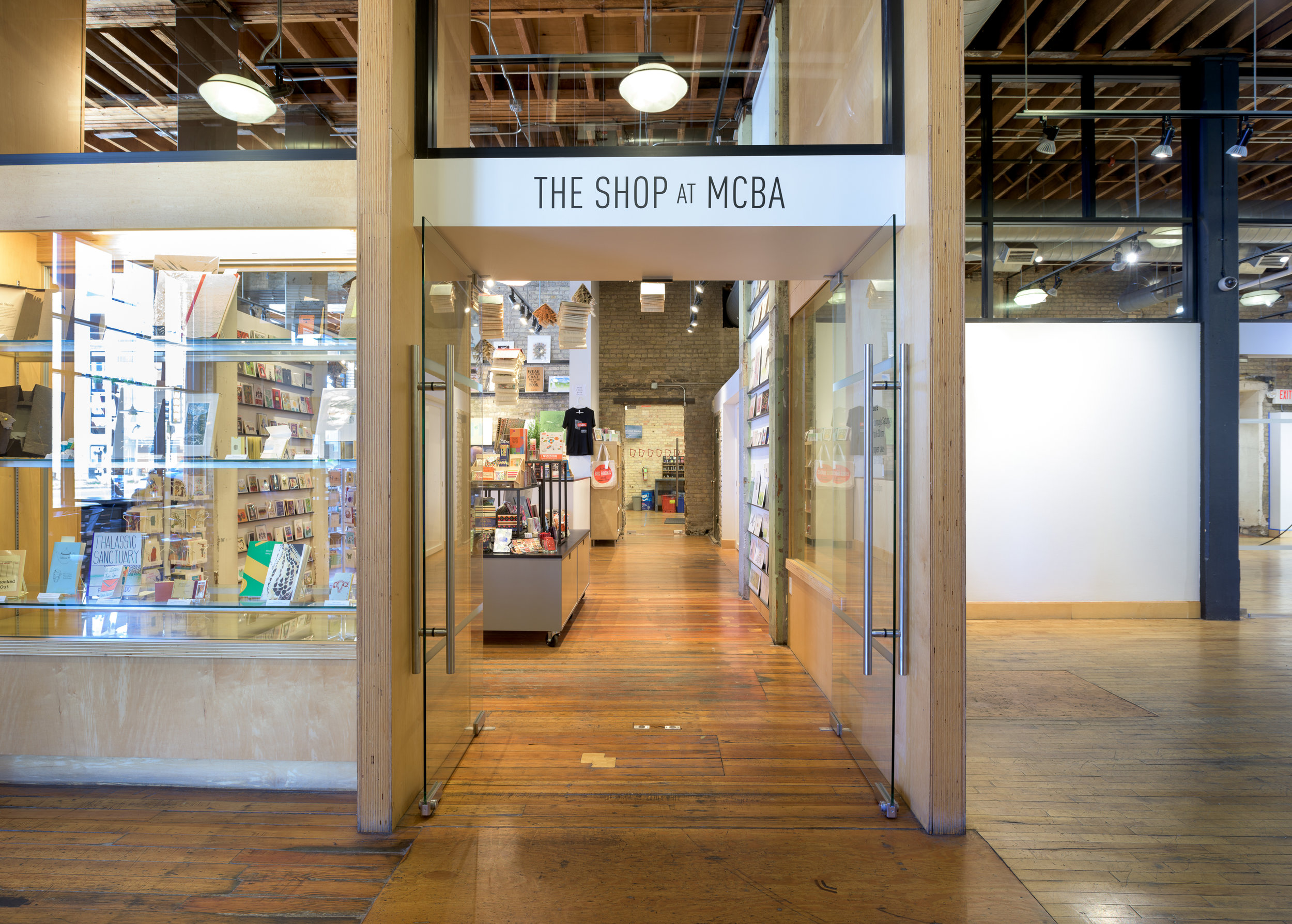 Minneapolis Center for Book Arts gift shop remodel by Christian Dean Architecture.