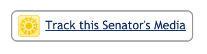 When clicked, the icon turns red to let you know the senator is now being tracked on your account.