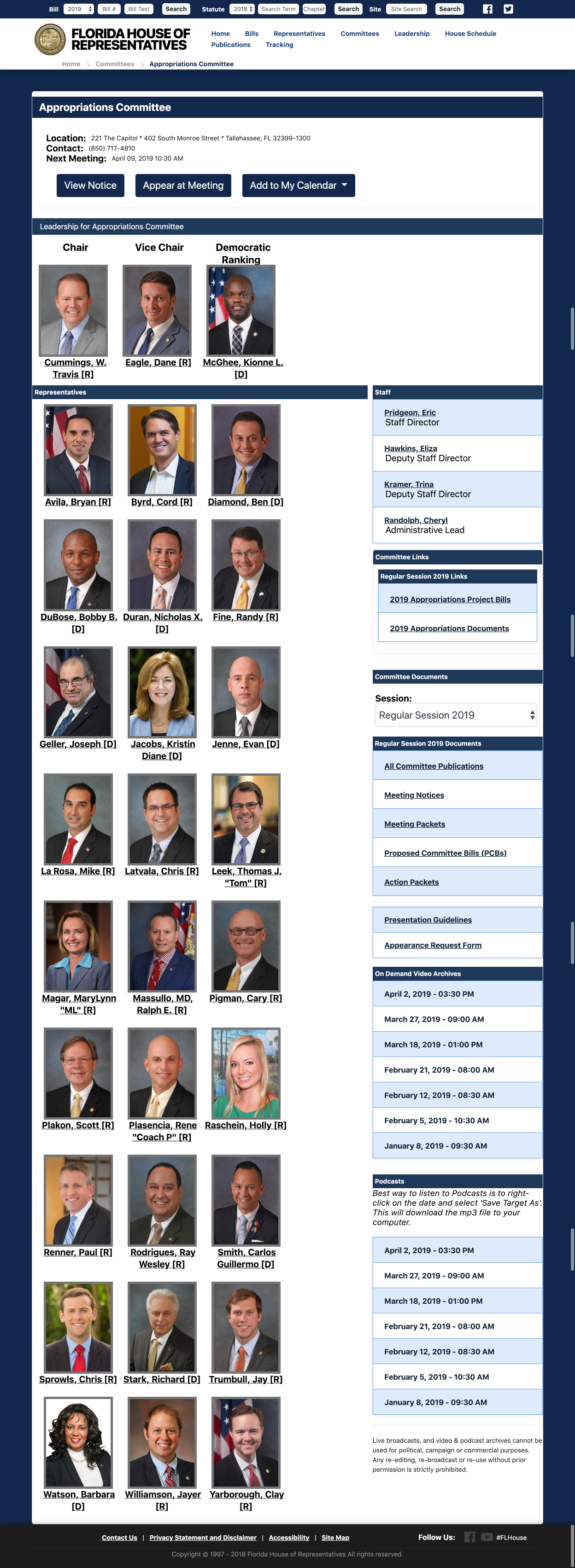 Appropriations Committee _ Florida House of Representatives.png