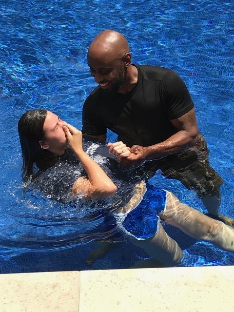 Danialle Strella baptized by Robert Cunningham