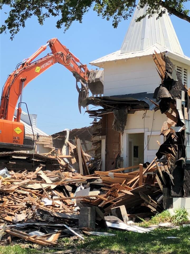 Old Church Building Demolished May 16, 2018