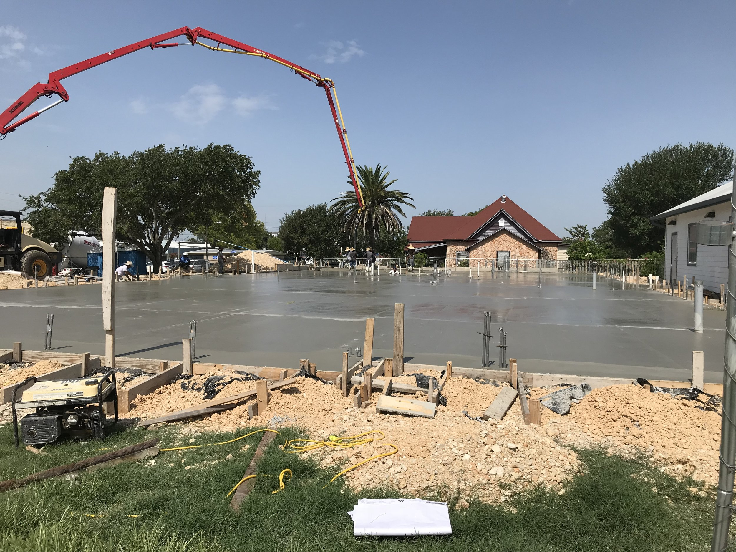 New Foundation Poured  July 24, 2018