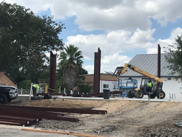 First Steel Beams Going Up August 15, 2018