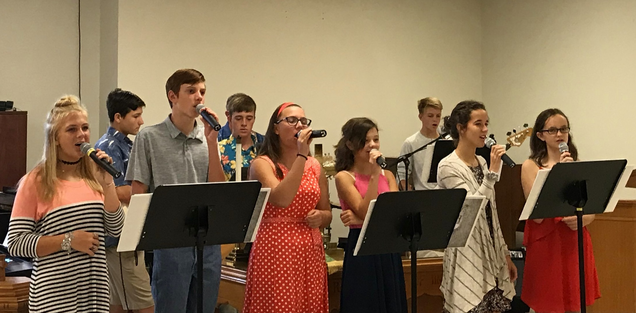 Youth Praise Band on Sunday!