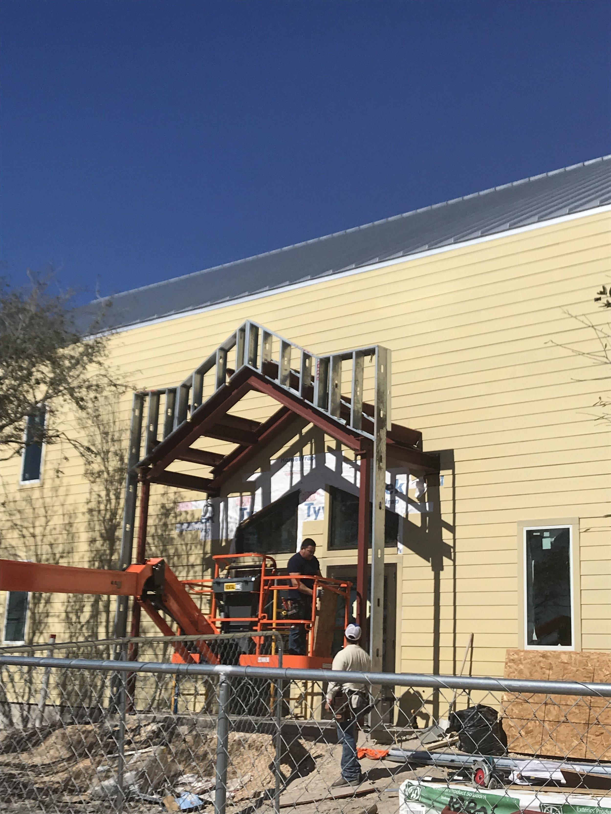 Main Entrance awning!