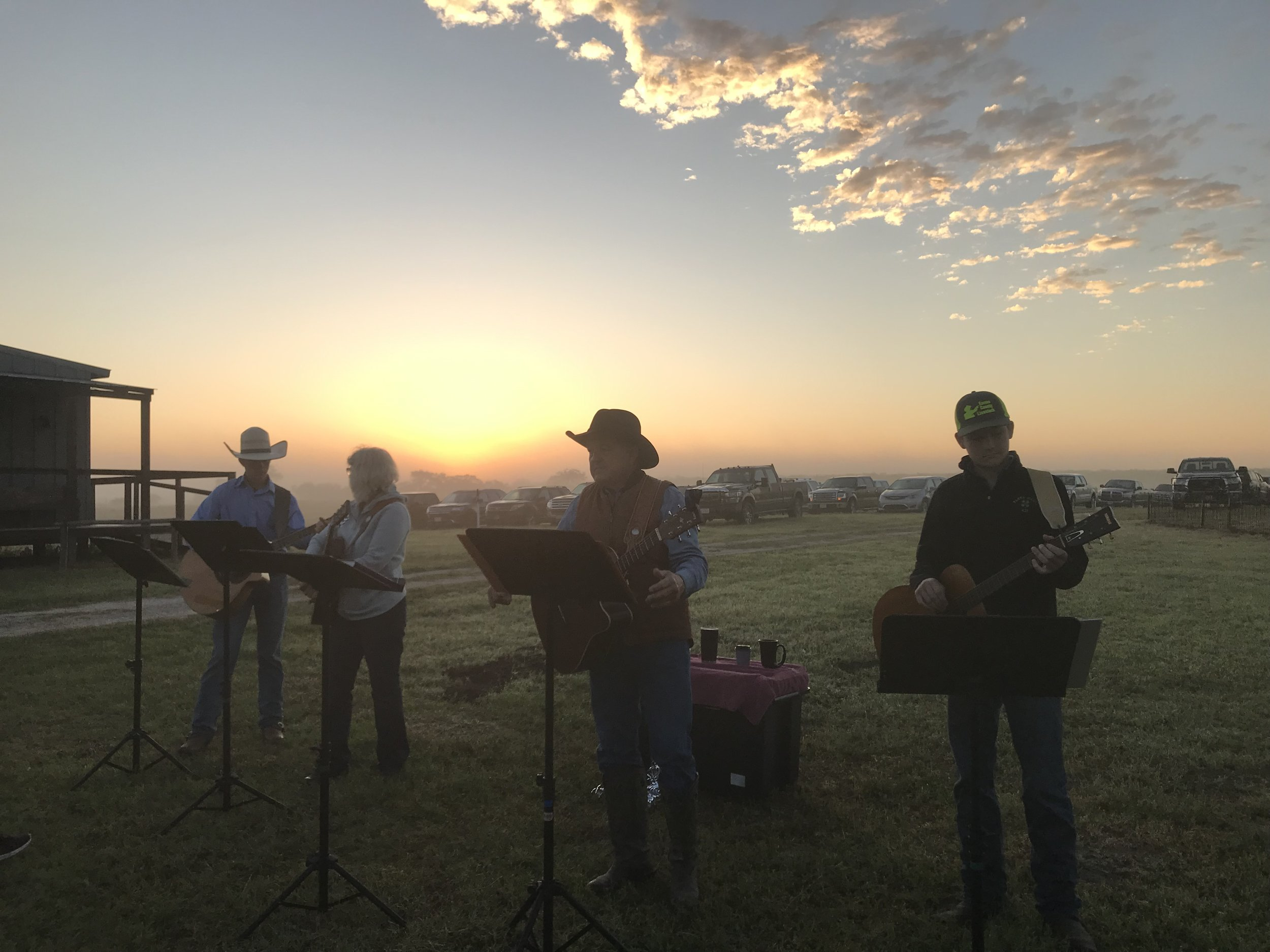 Praise Band leading Easter Sunrise!