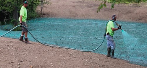 Illustration of  Hydroseeding   Photo credit: Turf Magazine