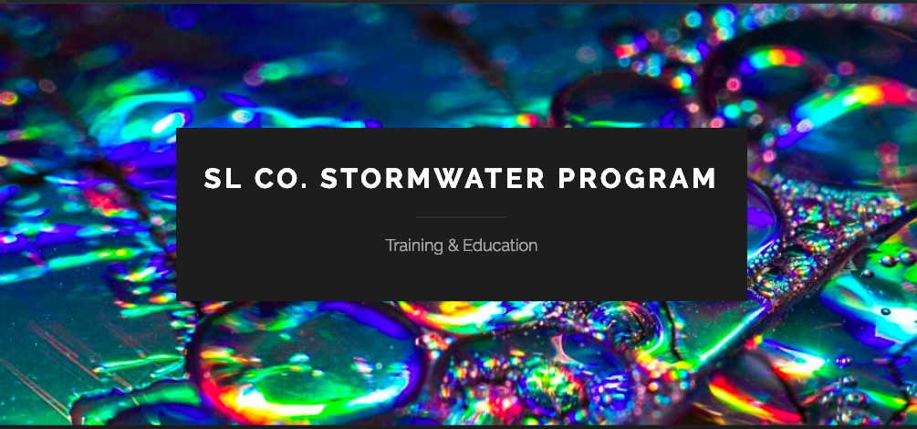 This website supports the training and education requirements of the Salt Lake County Stormwater Management Plan and it's related permits. To get started, choose an area of stormwater training from the menu above, or visit the instructions tab to learn more.