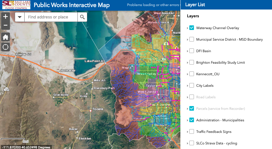 Salt Lake County Public Works Interactive Map