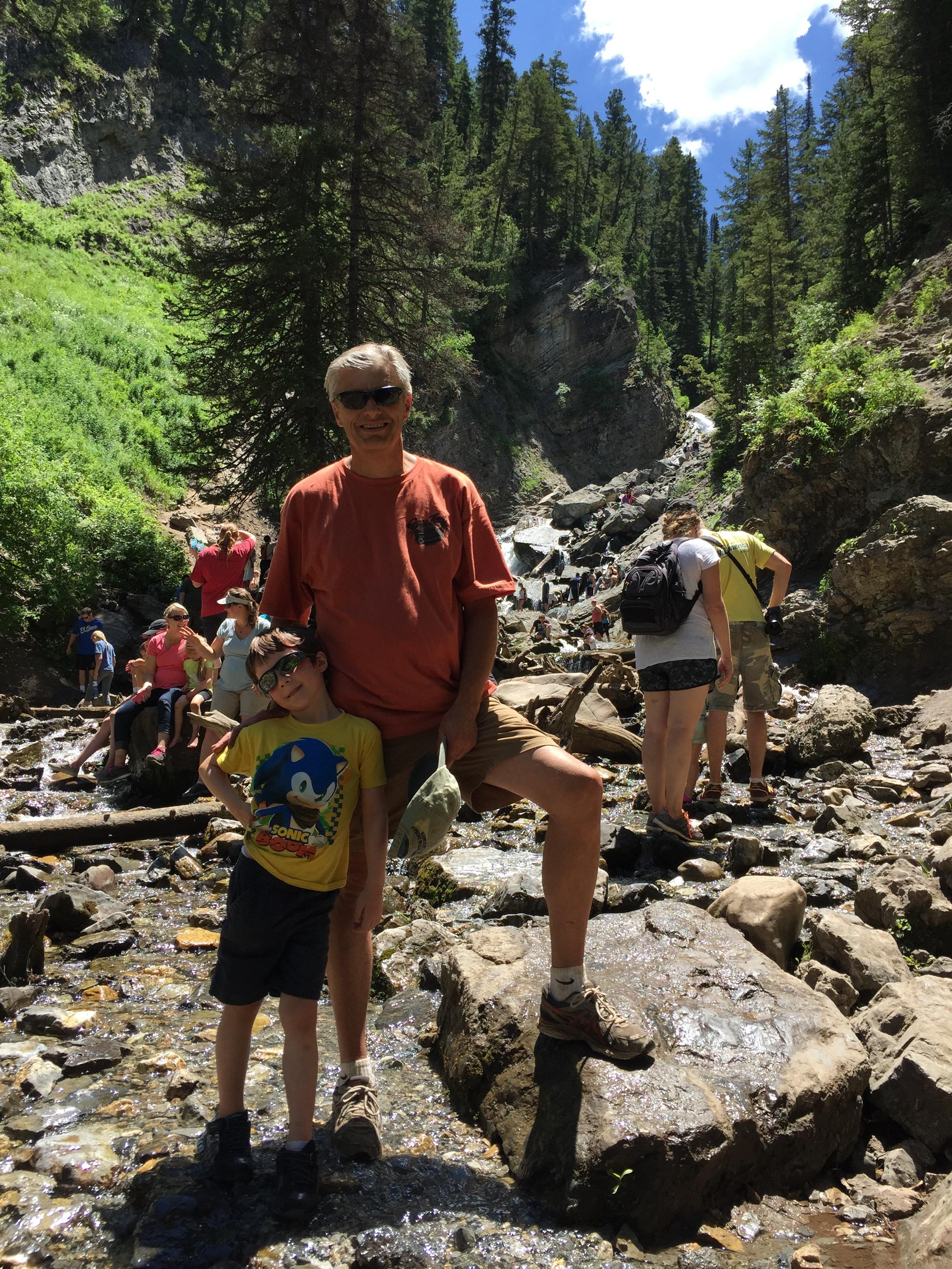 Hikers at Doughnut falls.JPG