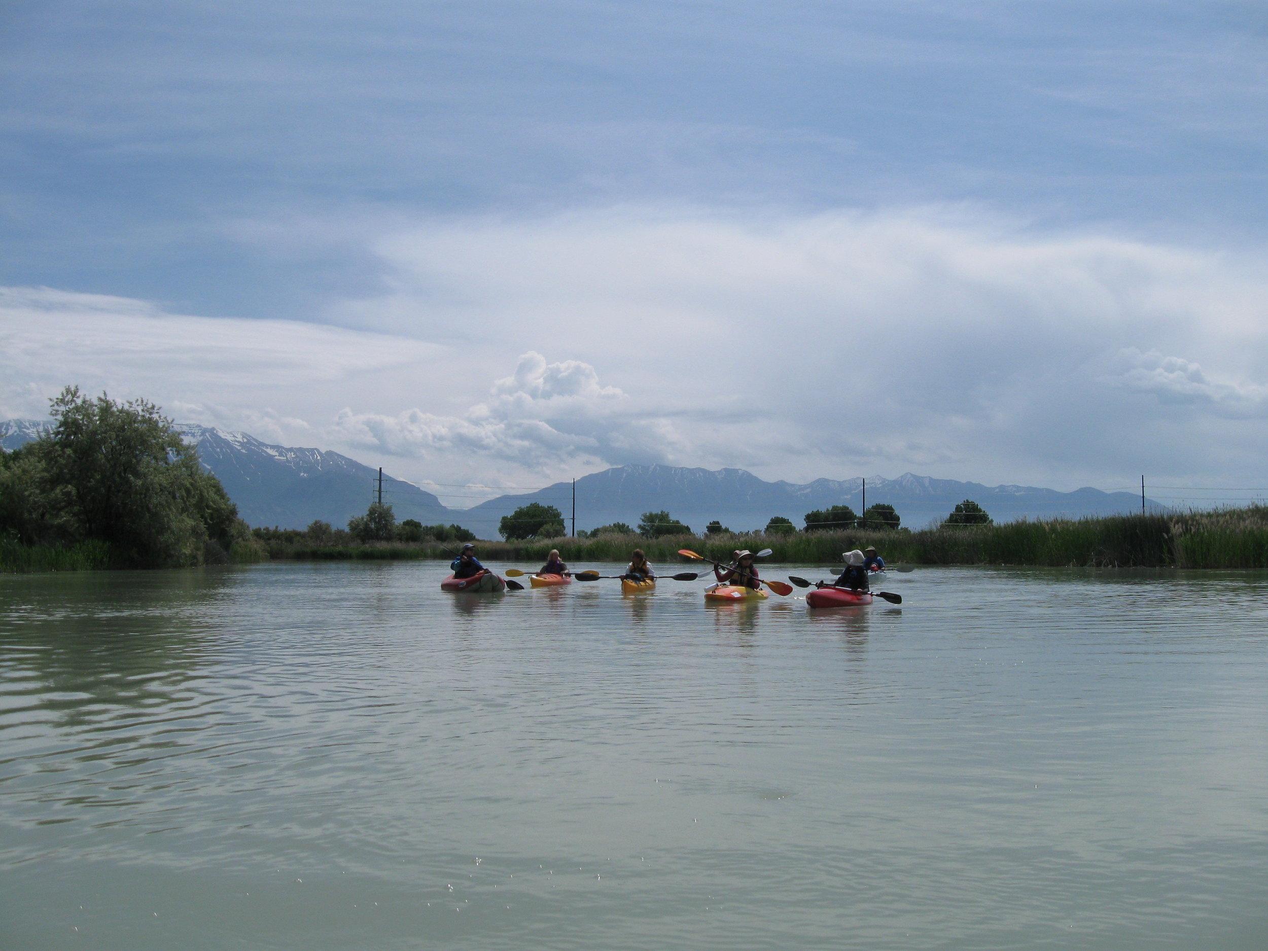 Kayaks on Jordan River.JPG