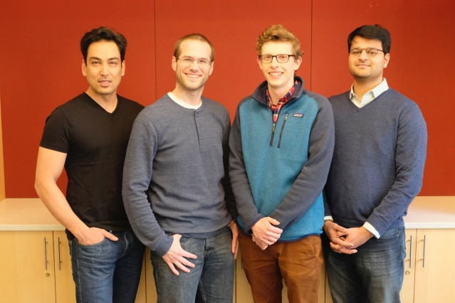 Photo of the awardees (Nick is second from the left) included with the MIT News press release