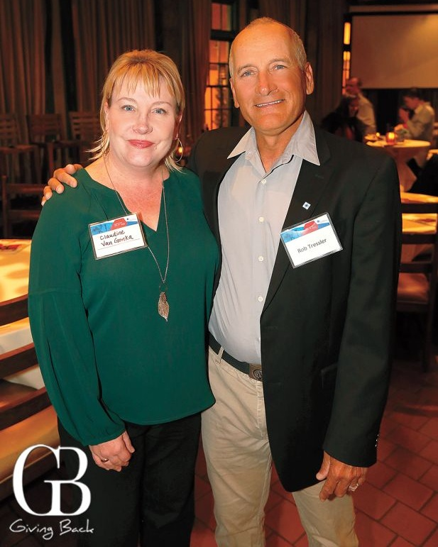 SDBB Public Relations Manager  Claudine Van Gonka  and Panelist,  Robert Tressler, Ph.D ., Vice President of Laboratories, Cell Therapy, SDBB