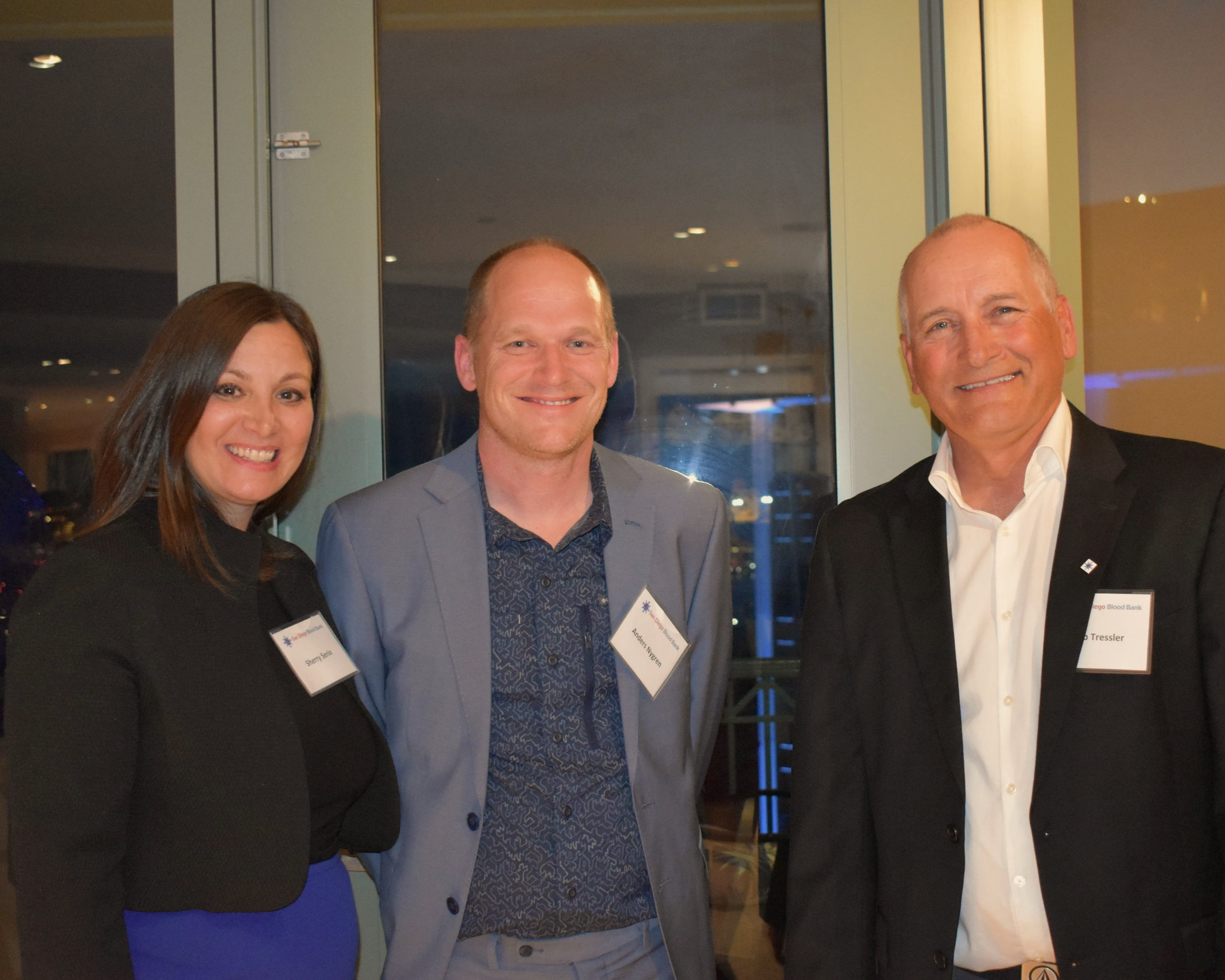 Sherry Serio, SDBB Vice President of Development, Anders Nygren, Vice President of Research and Development at Stratify Genomics, and SDBB's Rob Tressler, Vice President of Laboratories, Cell Therapy