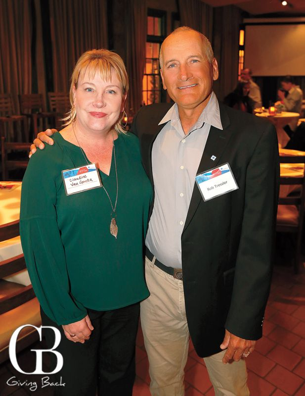 SDBB's Claundine Van Gonka, Public Relations and Robert Tressler, MD, Cell Therapy