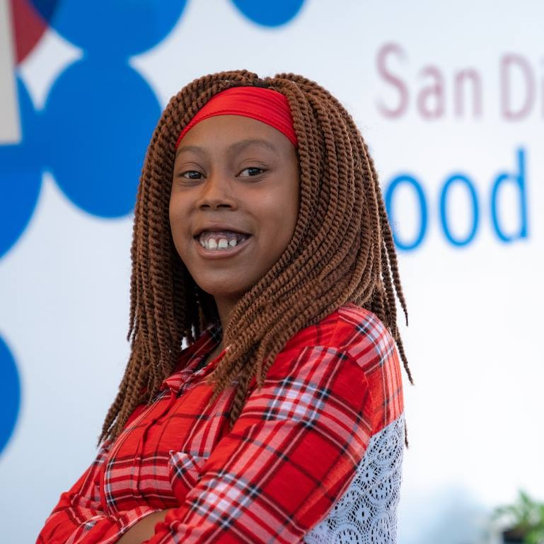 Selina receives regular red blood cell transfusions to treat sickle cell anemia.