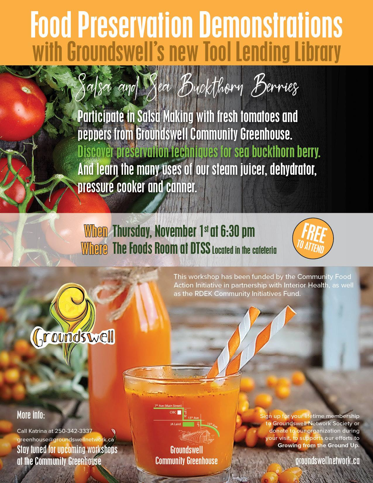 Food Preservation at Groundswell 2018