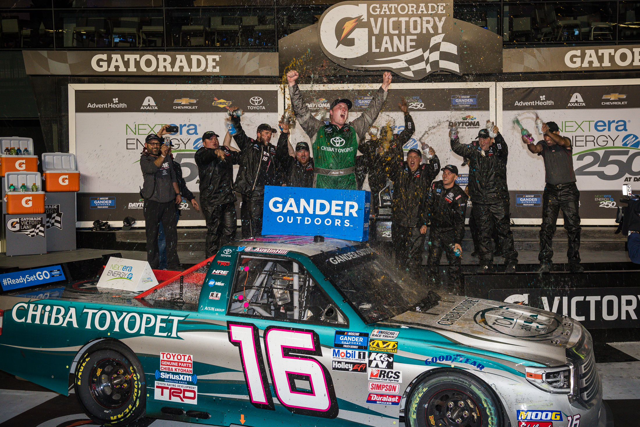 Feb. 15: Daytona Int'l Speedway - Start: 10thFinish: WIN