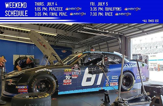 Happy July 4th from Daytona Beach! Here's your NXS weekend schedule from @disupdates.  #NASCAR #circlekfirecracker250 #NASCARSalutes #Motorsports #Racing #Toyota #Supra #TeamToyota #Florida #Daytona #DaytonaBeach #Racecar #Race #July4