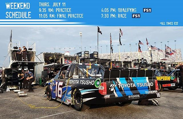 We have a full plate today at @kyspeedway!  #NASCAR #BuckleUp225 #Motorsports #Racing #Toyota #Tundra #TeamToyota #Trucks #Racetruck #Racecar #Kentucky #Sparta #BluegrassState #NASCARTrucks #GanderTrucks #Race #ToyotaTsusho #TRD40th