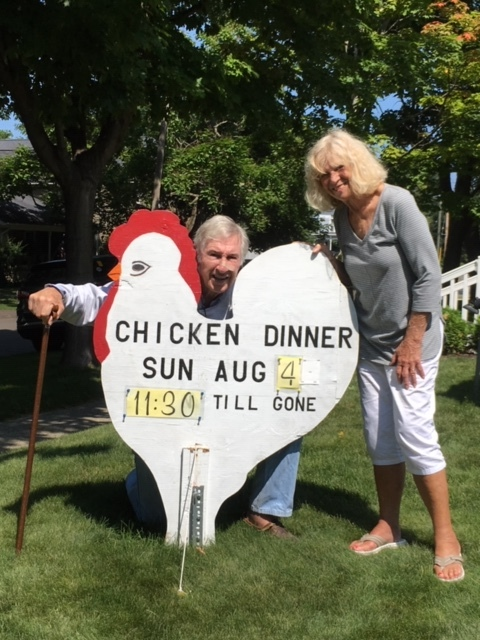 Locals Enjoying the Chicken