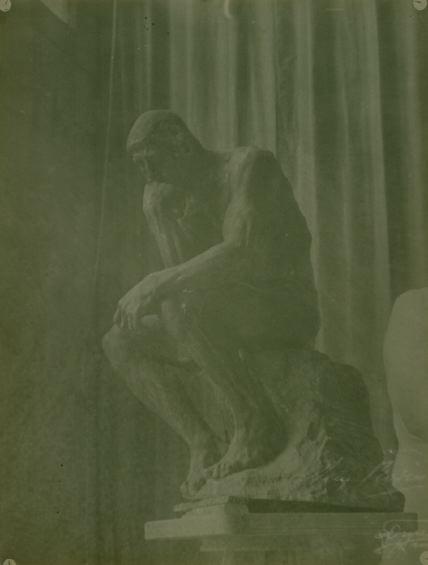 "Study of Rodin's ""The Thinker"", ca. 1896-1900"