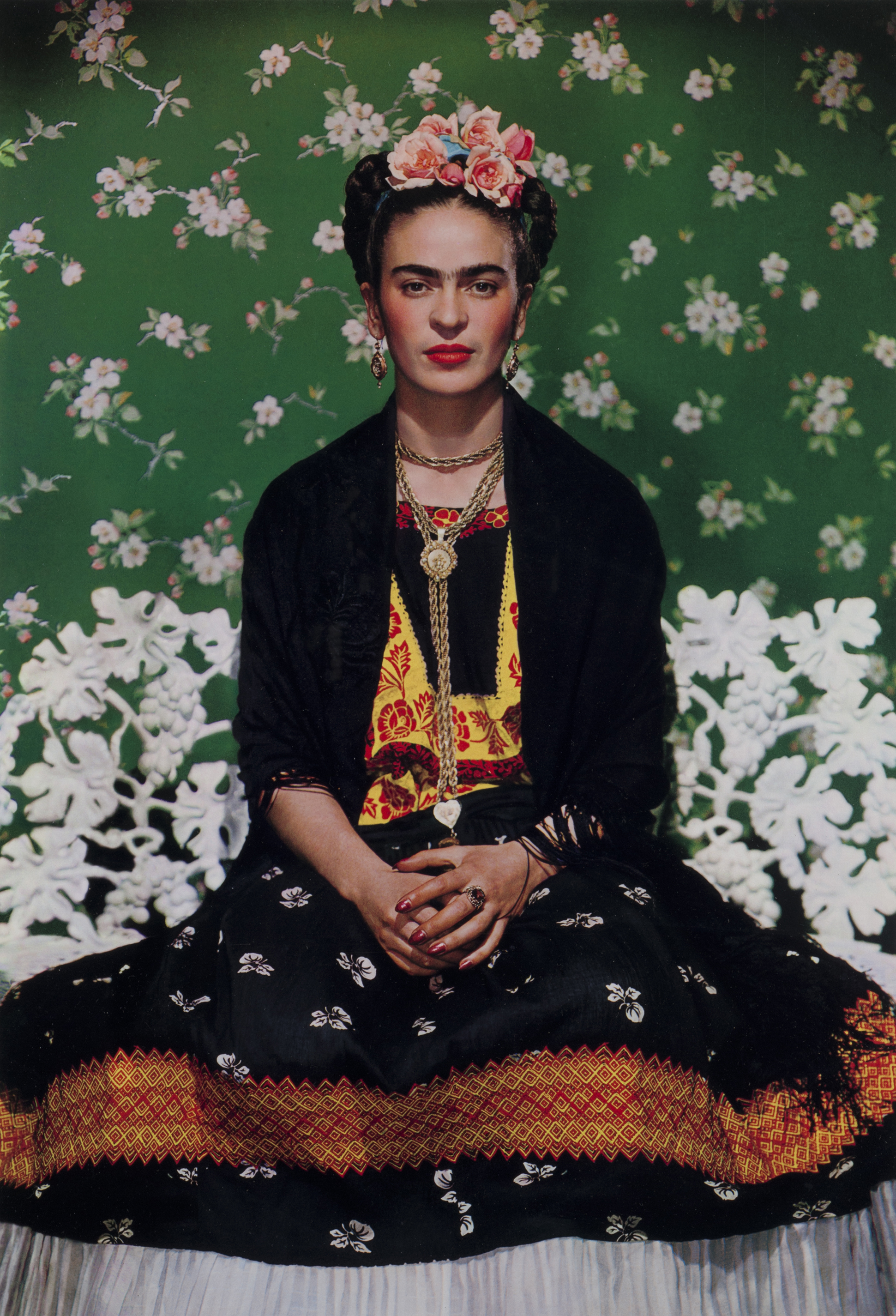 Frida Kahlo on White Bench, New York, 1939