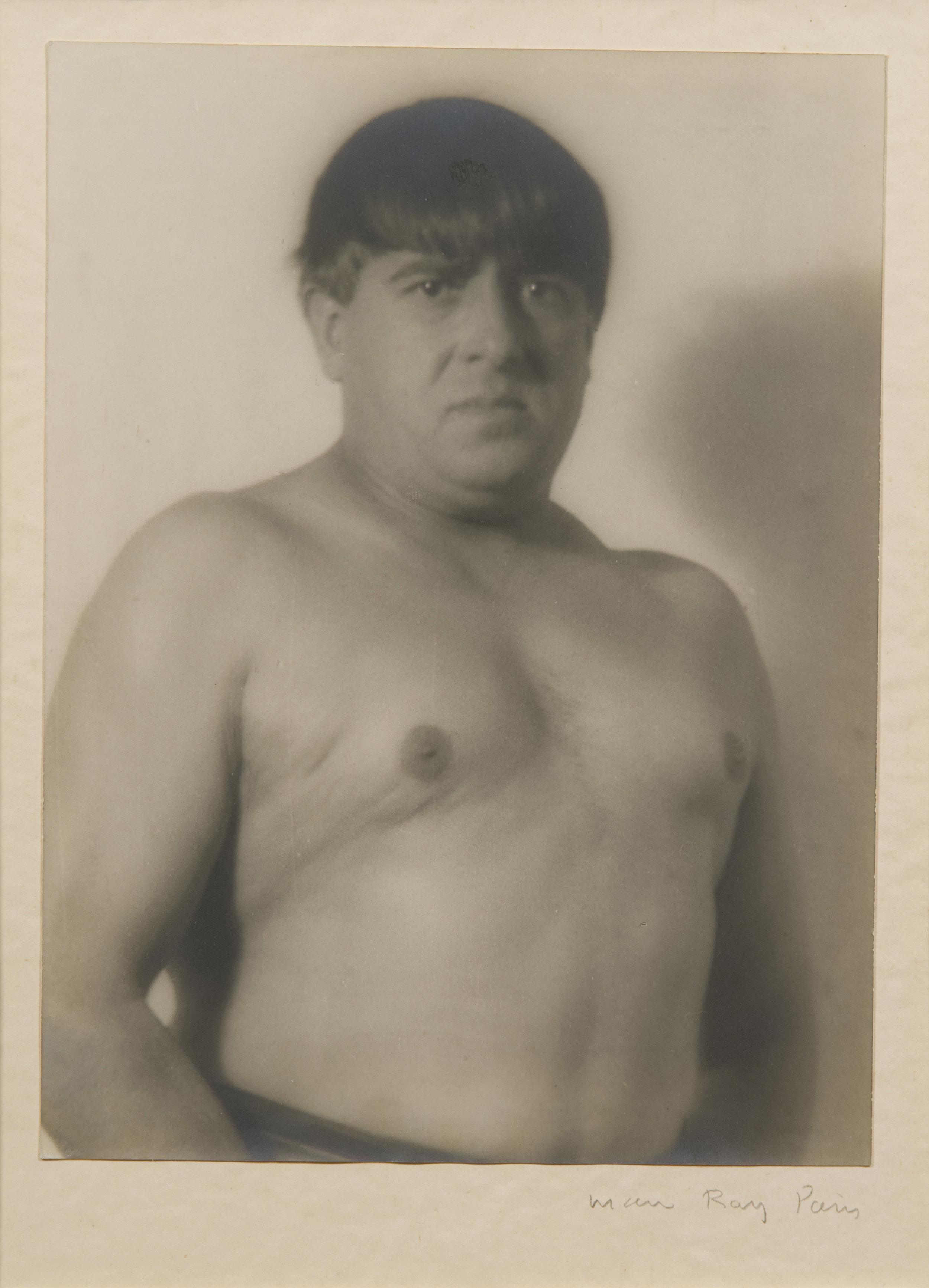 Francis Picabia Imitating Rodin's Statue of Balzac, 1923