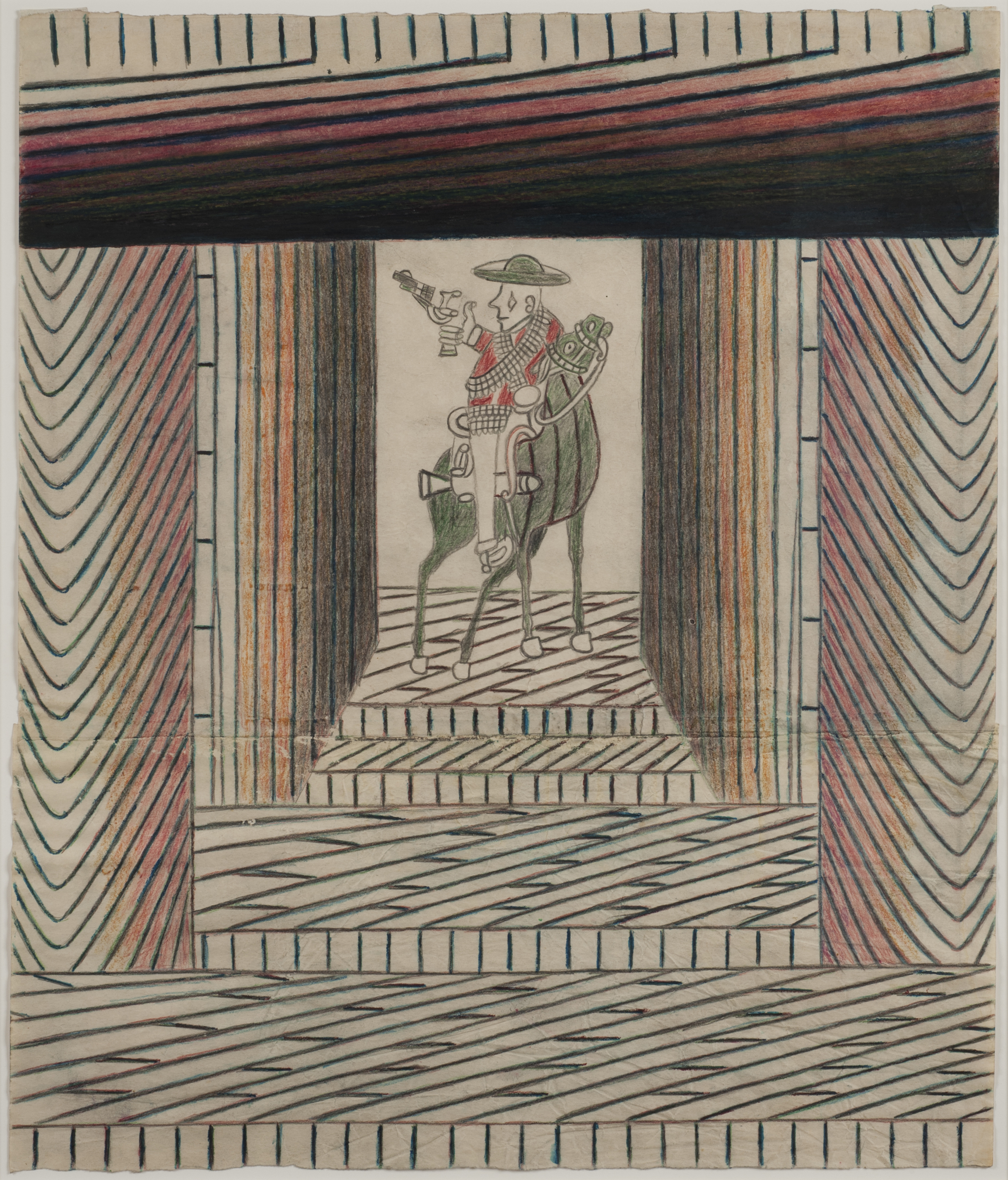 Untitled (Caballero with Red Shirt No. 3), 1950-55