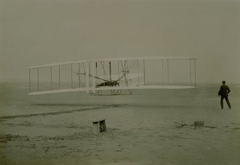 First Successful Airplane Flight of the Wright Brothers, Kitty Hawk, North Carolina, 1903