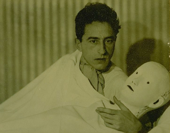 Jean Cocteau with Mask, 1927