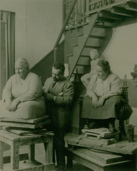 Gertrude Stein Sitting for the Sculptor Jo Davidson, 1922