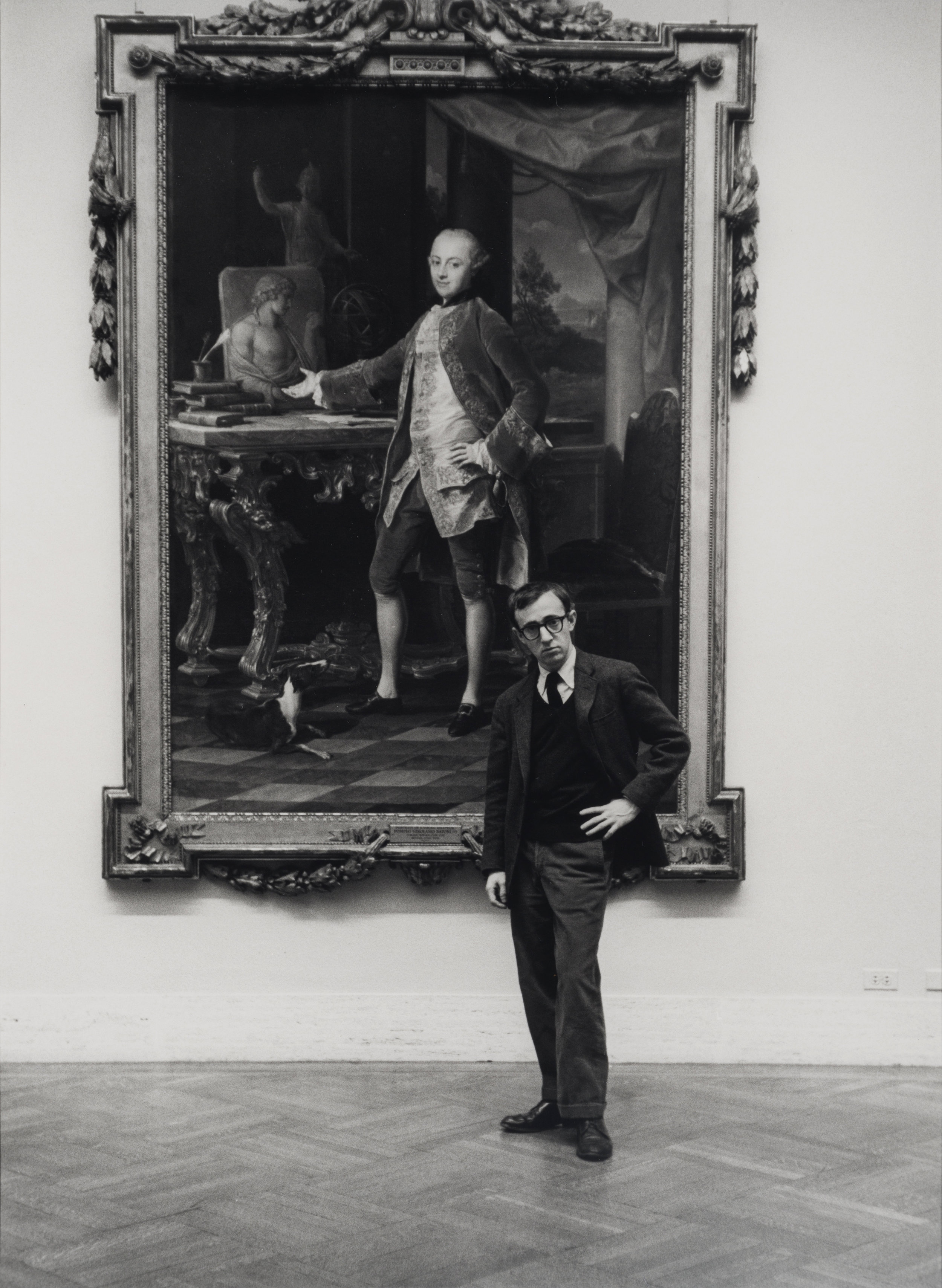 Woody Allen at the Metropolitan Museum, 1963