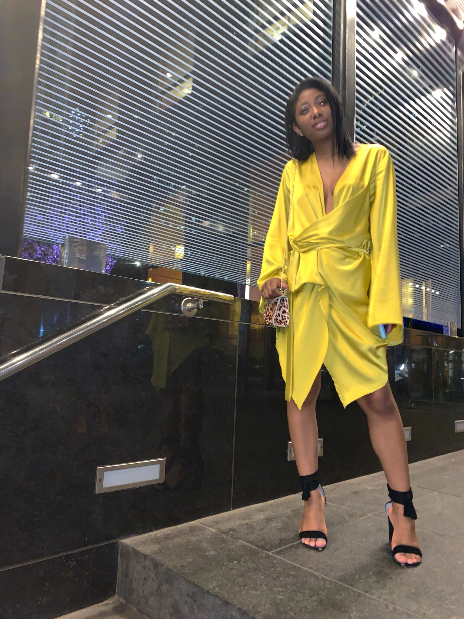 Yellow Silky WrapDress - It's Spring fam — If you havn't already peeped, fashion's favorite color of the season right now is Yellow.