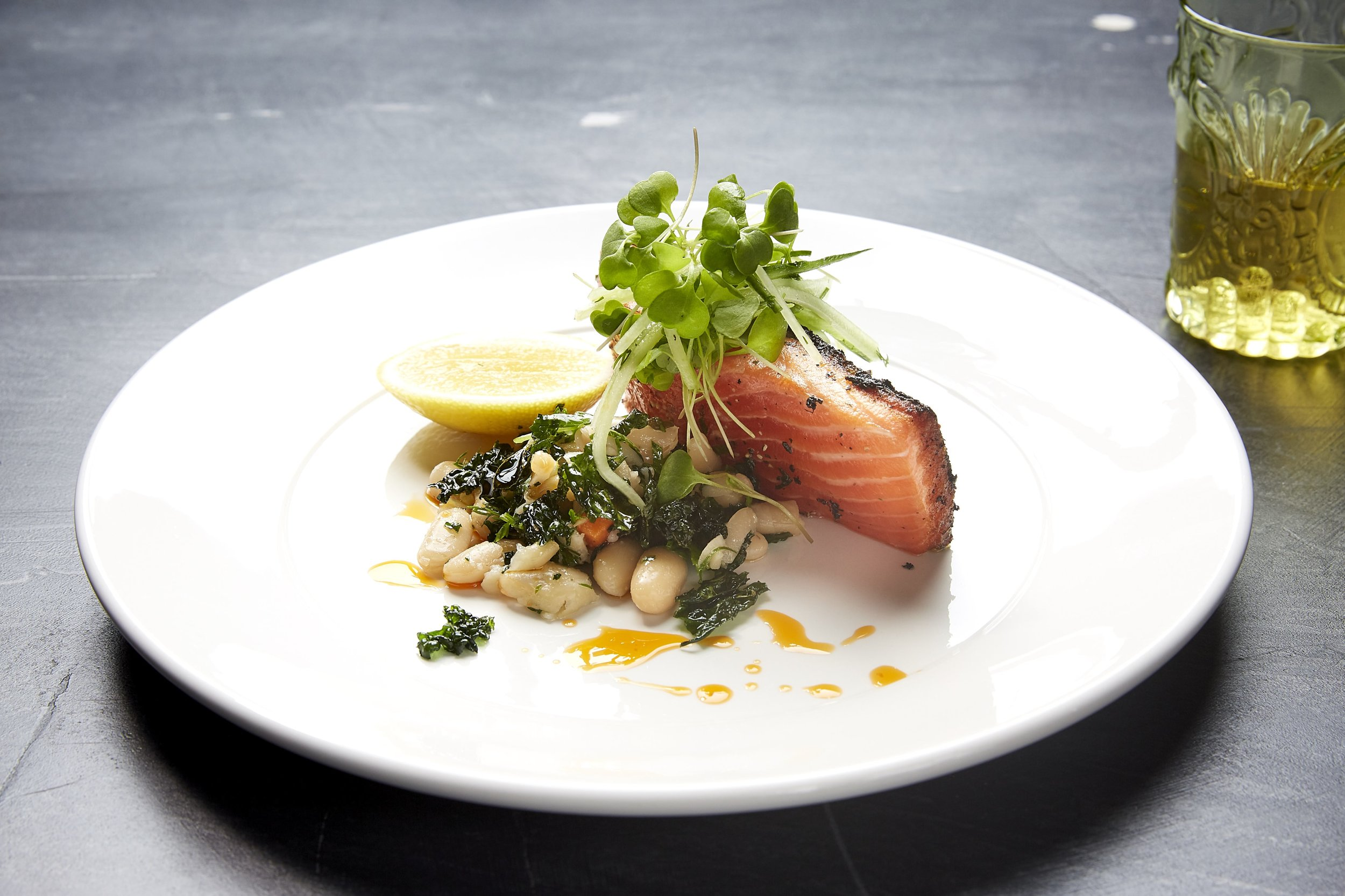 A salmon dish from gourmet caterers melbourne Damm Fine Food Co.