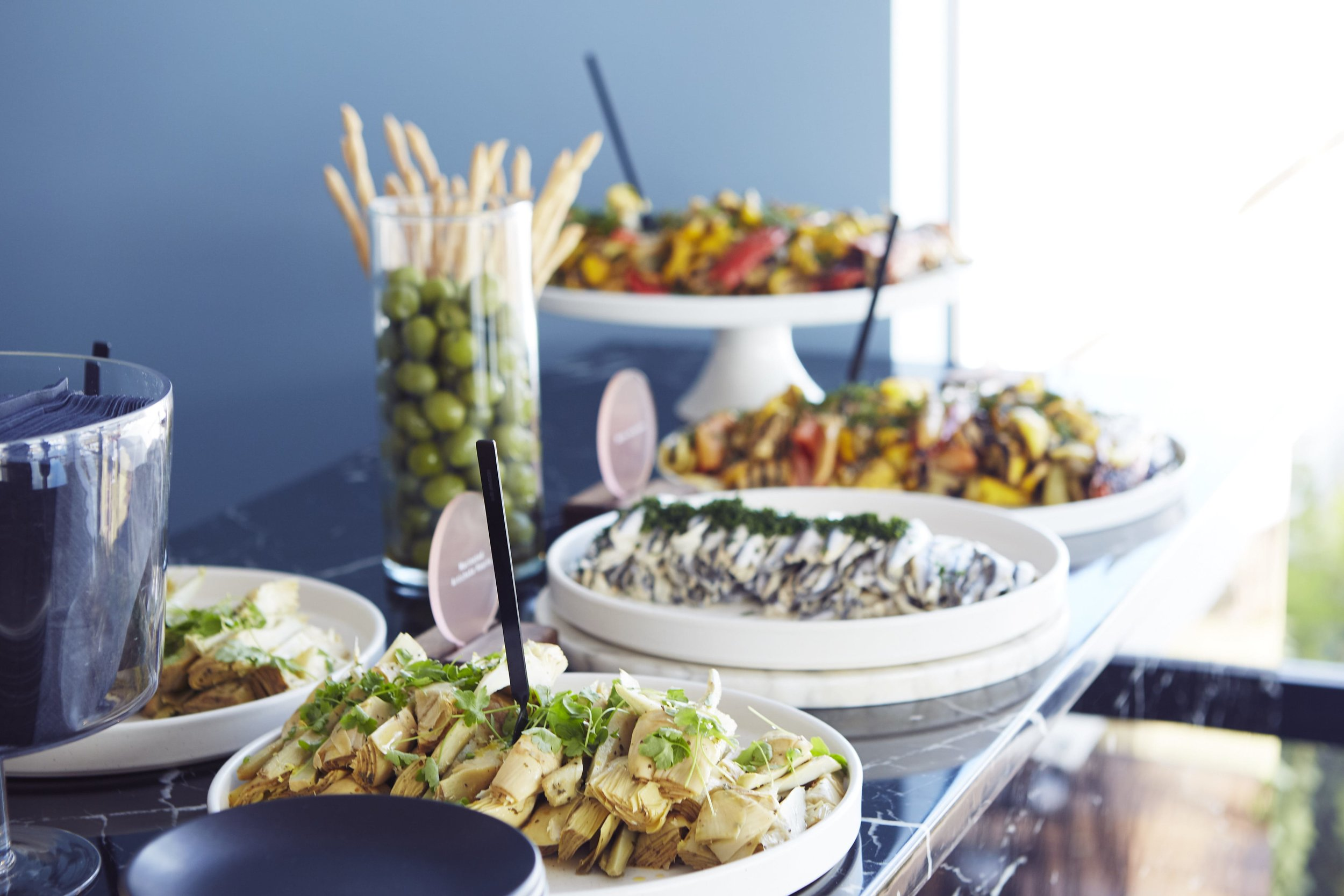 Antipasto Platter featuring a selection of gourmet meats, cheeses and roasted vegetables at the 2018 Alfa Romeo Portsea Polo.