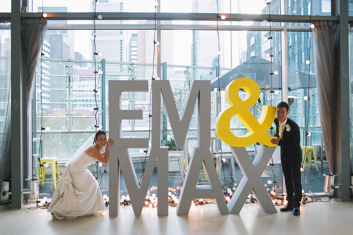 Em + Max - WEDDING VENUE: ALTO Event Space