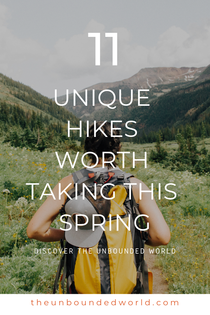 Unbound Spring Hikes- Pinterest - 11 Unique Hikes to Take this Spring - Unbound