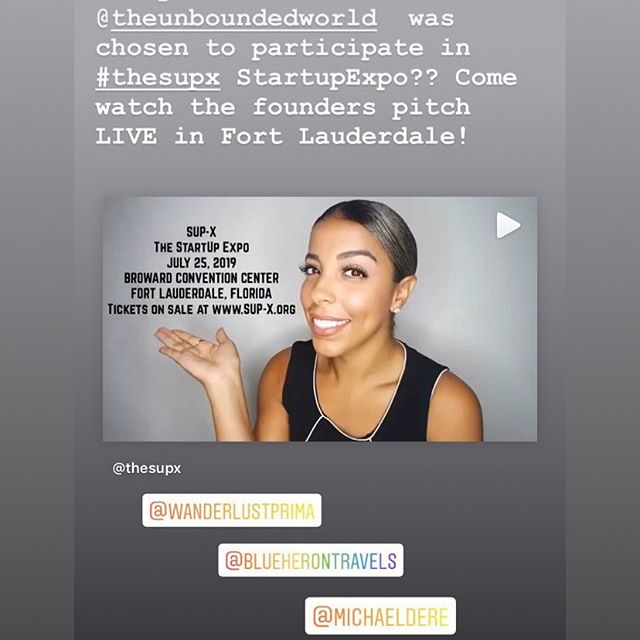 @theunboundedworld is heading to the Startup Expo @thesupx  in Fort Lauderdale on 7/25! Want to watch us pitch live?? . . . . . . #startup #startups #theunboundedworld #pitchcompetition #enterpreneur #femalefounders #sustainabletravel #responsibletravel #joinus