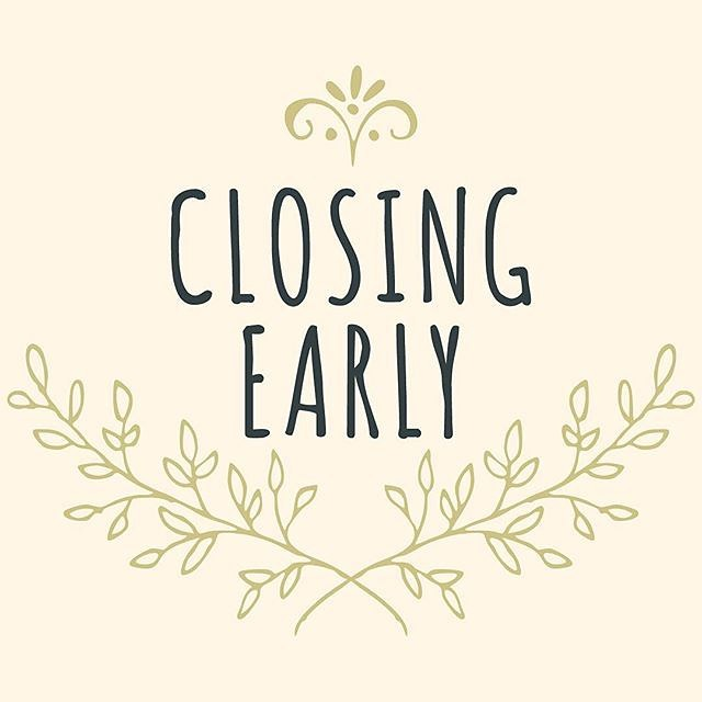 Cotton Row Uniques will be closing @ 3pm on Thursday August 29th, 2019. We will re-open Friday @ 10am with normal hours.