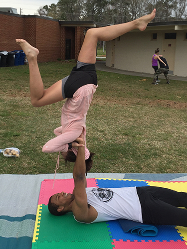 Acro Yoga - Shoulderstand Reverse Pose