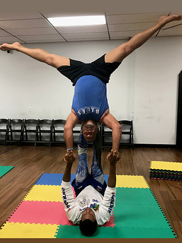 Acro Yoga - Star Pose