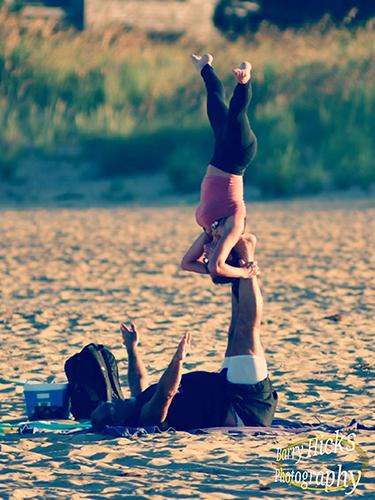 Acro Yoga - Star Pose