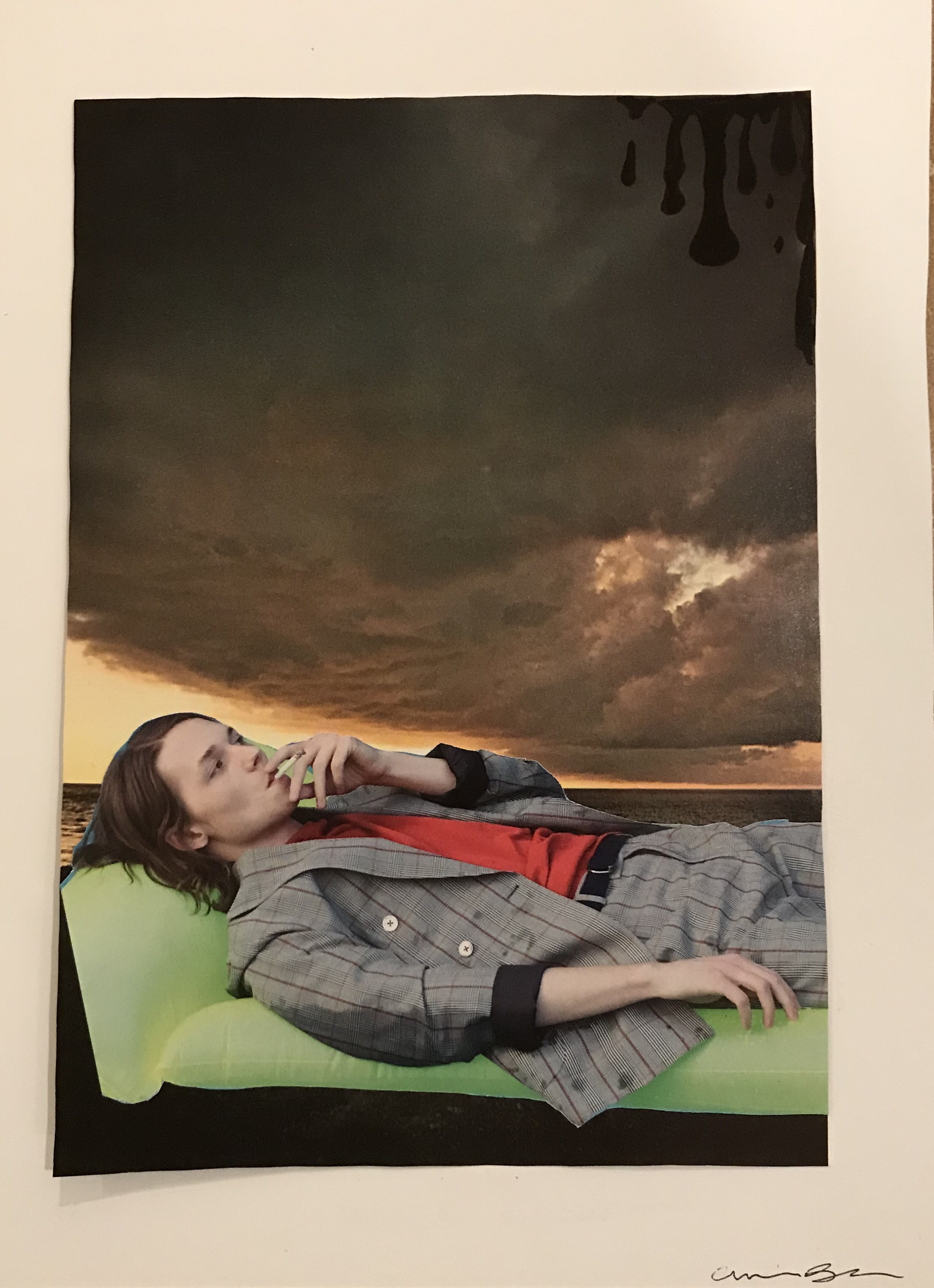 """""""Melancholy: a collage"""" by Caroline Blatz"""