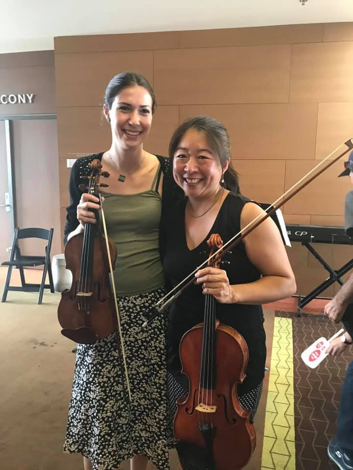 Erin Wells & Dr. Jo after performing for Elemental Music at the Broad 2019 Broad Fest